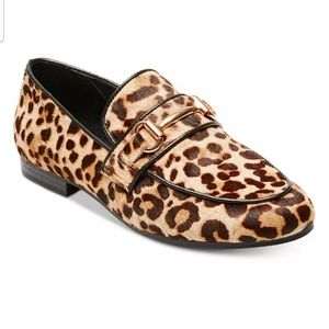 Steve Madden Kerry-L Leopard Calf Hair Loafer